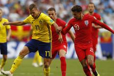 Fudbalska reprezentacija Engleske, Fudbalska reprezentacija Švedske