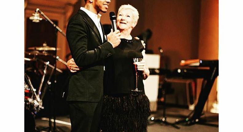 Lewis Hamilton and his mum Carmen Larbalestier
