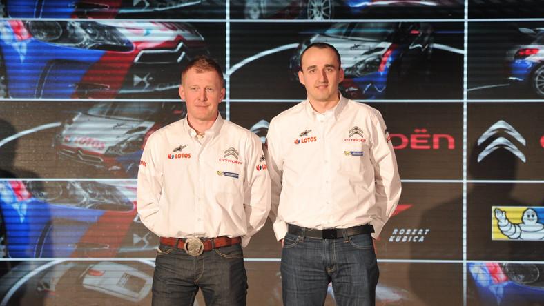 Maciej Baran i Robert Kubica