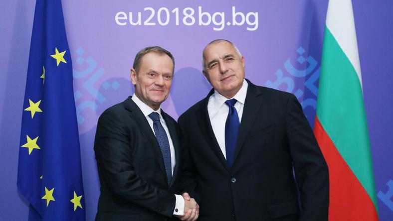 Donald Tusk z premierem Bułgarii Bojko Borisowem