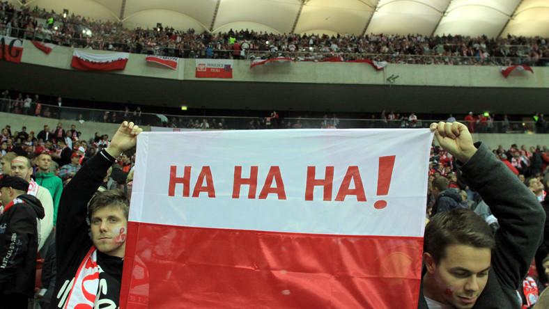 Kibice na Stadionie Narodowym