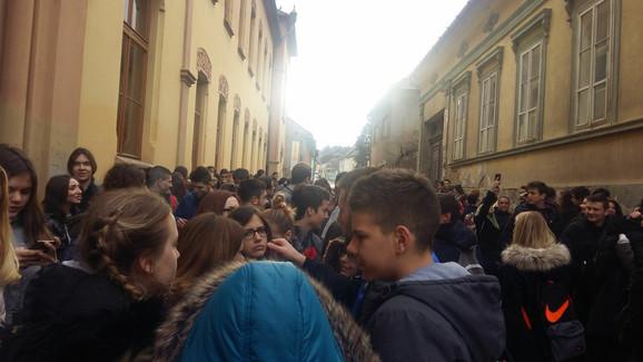 Protest učenika Karlovačke gimnazije