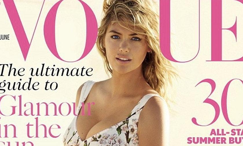 Kate Upton na okładce Vogue'a.