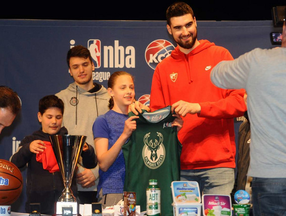 Košarkaš Crvene zvezde Dušan Ristić