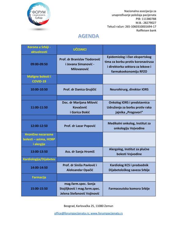 Agenda III web konferencija