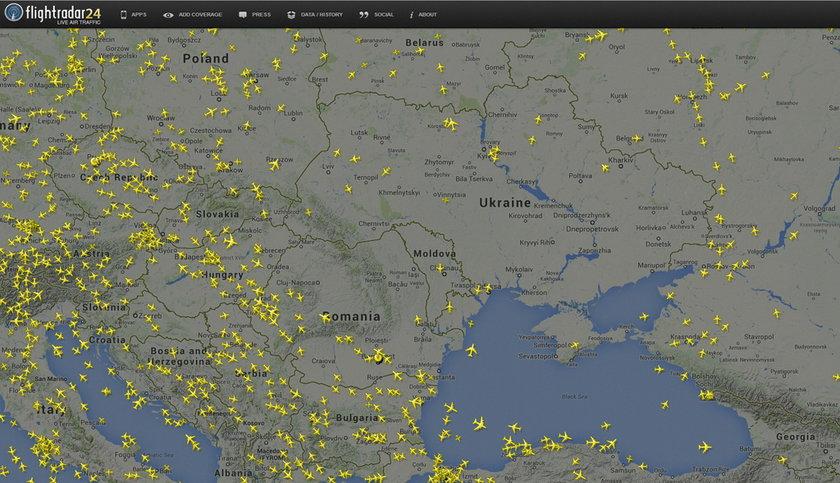 Puste niebo nad zachodnią Ukrainą