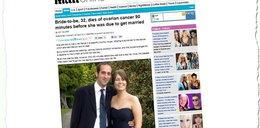 Panna młoda zmarła godzinę przed ślubem na...