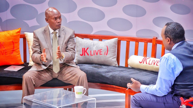 William Kabogo with Jeff Koinange on the JKL show (Twitter)