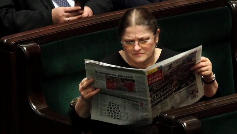 Krystyna Pawłowicz czyta Gazetę Polską Codziennie
