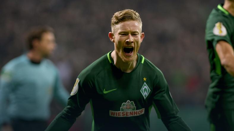 Puchar Niemiec: awans Werderu Brema, 45 minut Bartosza Kapustki
