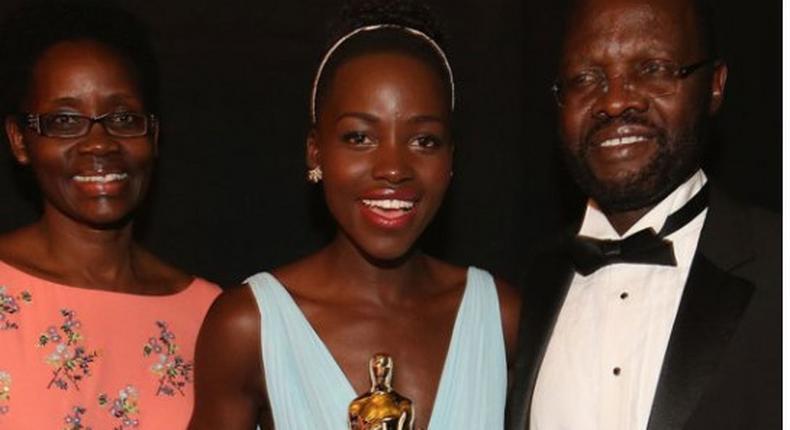 Lupita Nyong'o with father Prof. Anyanga Nyongo
