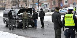 Wypadek SOP w Warszawie. Trzy osoby trafiły do szpitala