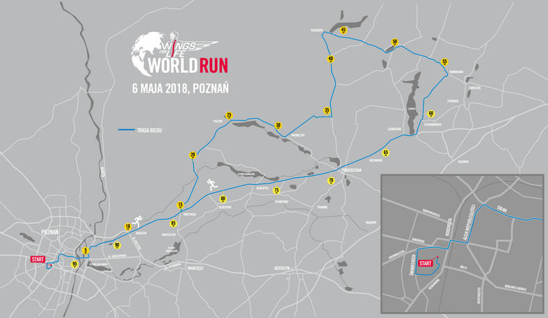Trasa Wings for Life World Run