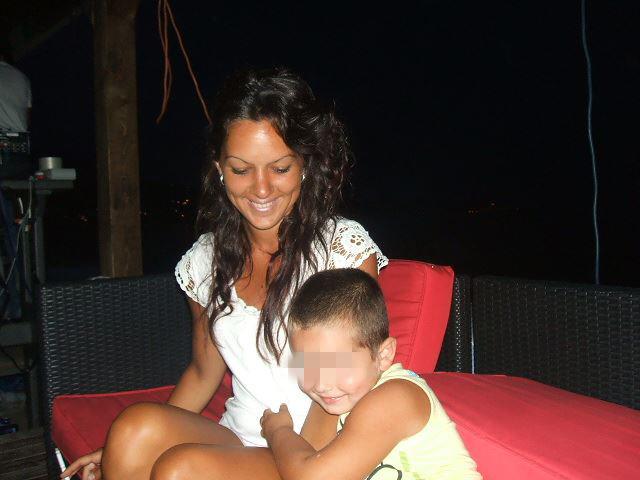 Dijana Zlatić sa sinčićem