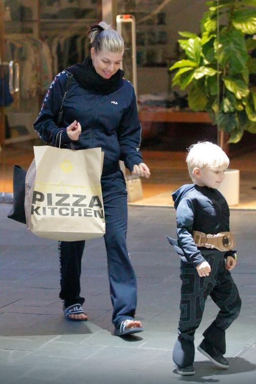 Fergie z synkiem na obiedzie