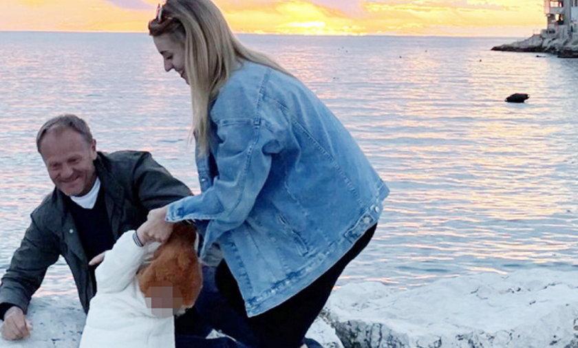Donald Tusk z córką i wnuczką w Chorwacji.