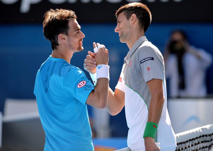 Novak Đoković i Fabio Fonjini