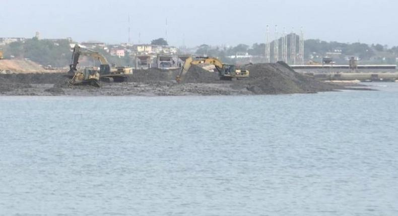 Dredging begins for the construction of Atlantic Terminal