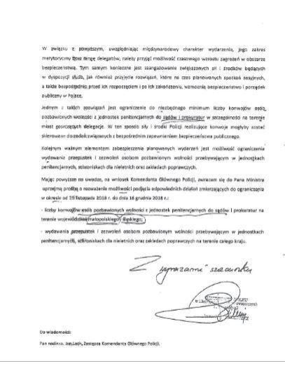 Pismo wiceministra Zielińskiego do Zbigniewa Ziobry cz.2