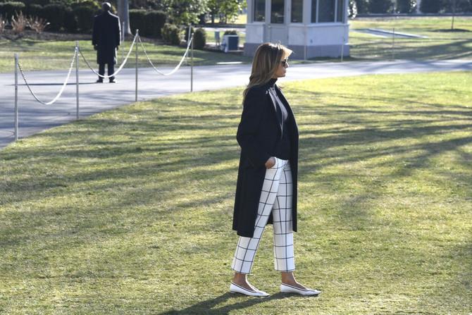Melanija Tramp često nosi balentanke