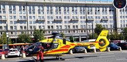 Śmigłowiec LPR lądował w centrum Warszawy, bo zabrakło karetek. NAGRANIE