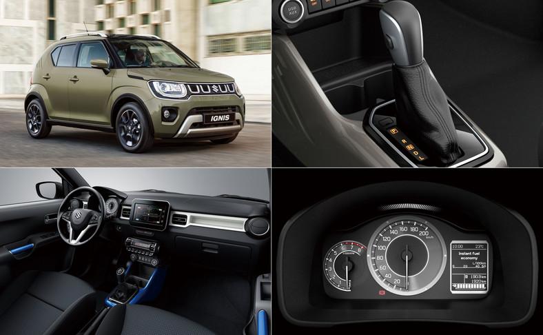 Suzuki Ignis w nowej odsłonieszpanuje bogatszym wyposażeniem, nową skrzynią biegów CVT i napędem, który ma godzić dynamiczne osiągi z umiarkowanym spalaniem.
