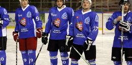 Piłkarze Ruchu na lodzie