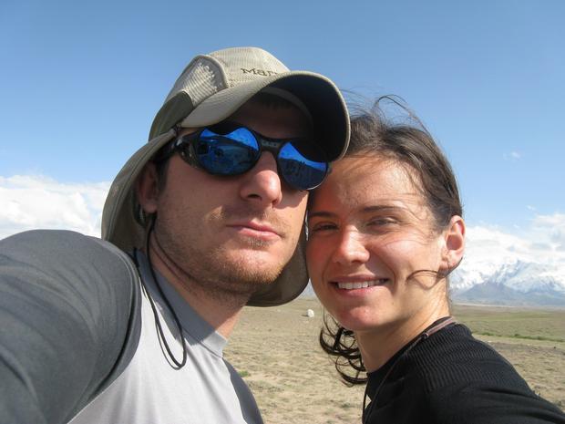 Agnieszka Korpal i Tomek Kowalski w Kirgistanie przed wspólną wyprawą na Pik Lenina