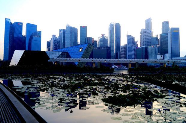 Biznesowa dzielnica w centrum Singapuru
