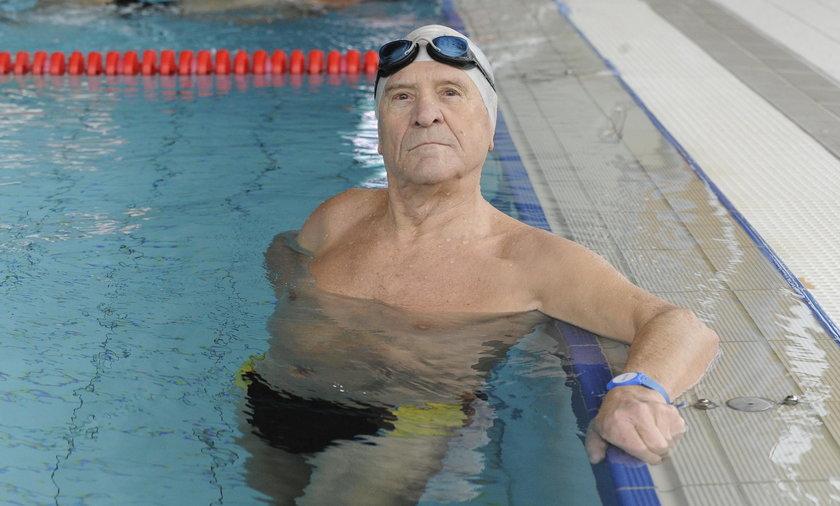 Pan Zdzisław zaczął trenować na emeryturze