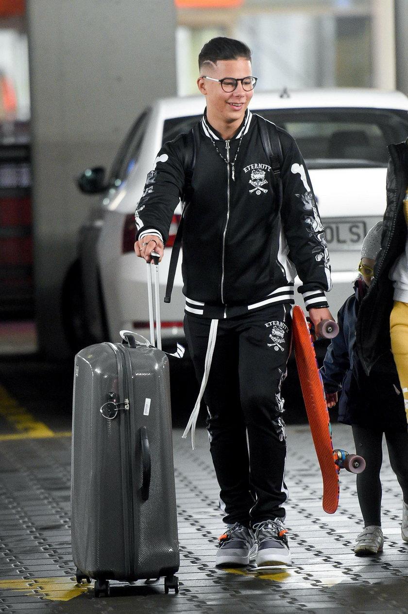 Allan Krupa na lotnisku w Warszawie