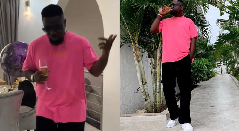 Here's a snippet of how Sarkodie marked his birthday with a 'highest' class (VIDEO)