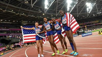 Athlete claims 16th world medal as US win 4x400m relay