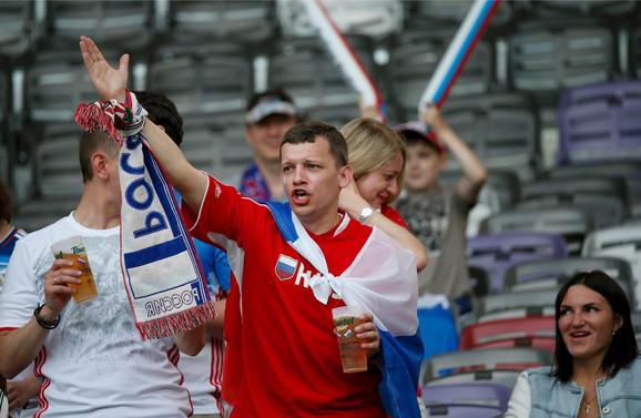 Navijači fudbalske reprezentacije Rusije