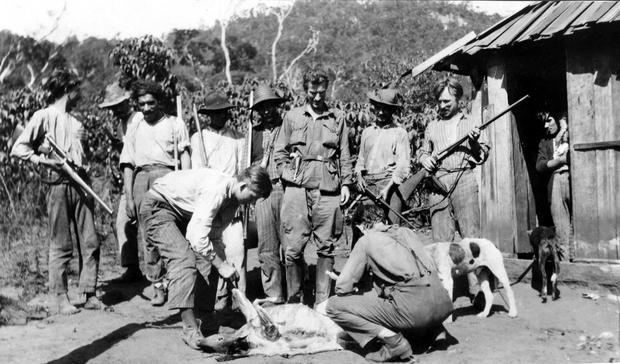 Polowanie podczas brazylijskiej wyprawy, 1929 r.