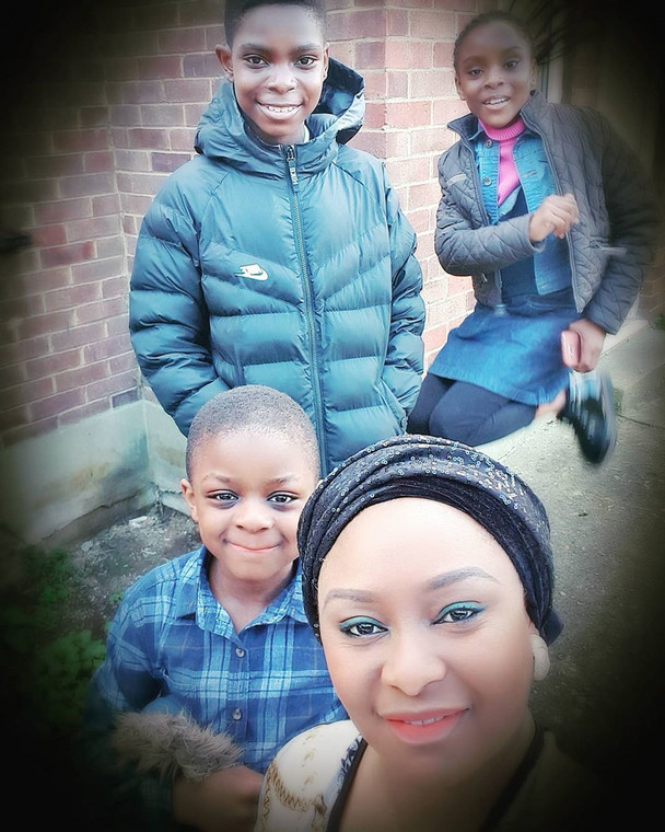Victoria Inyama and her three children [Instagram/VictoriaInyama]
