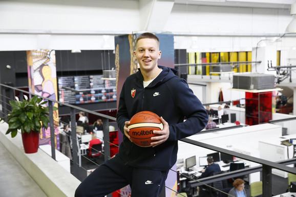 Kapiten juniora Crvene zvezde Lazar Vasić