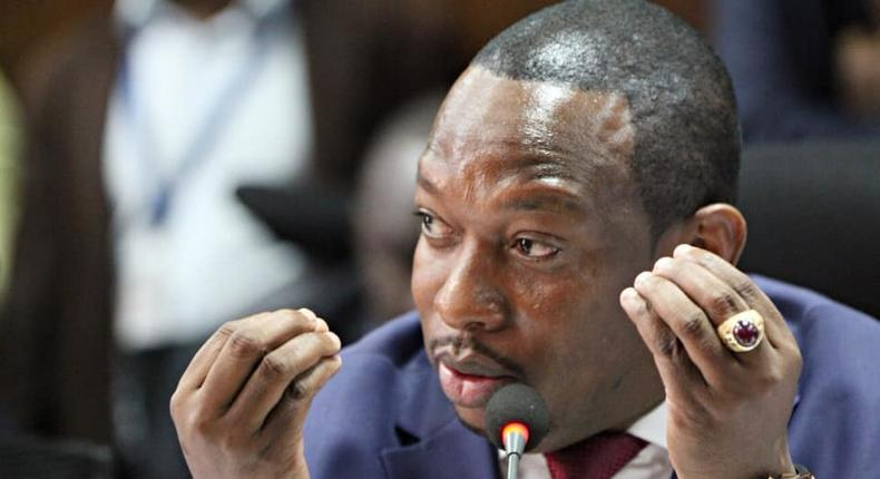 Nairobi Governor Mike Sonko during a briefing