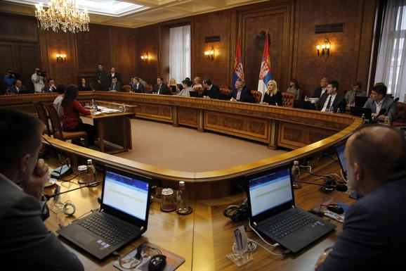 Današnja sednica Vlade Srbije