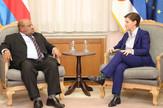 Ana Brnabić Suef Mohamed El Amin TANJUG - VLADA REPUBLIKE SRBIJE, SLOBODAN MILJEVIC