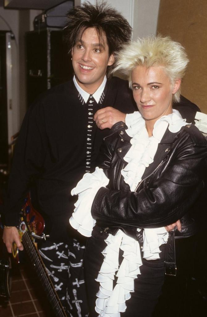 """Meri Frederikson i Per Gesl 19995. kao članovi grupe """"Rokset"""""""