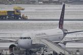 belgija aerodrom sneg