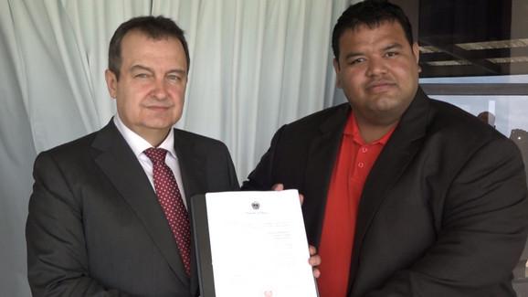 Dačić sa zamenikom ministra spoljnih poslova Naura