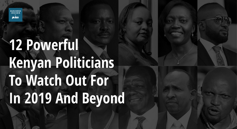 12 powerful Kenyan politicians to watch out for in 2019 and beyond.