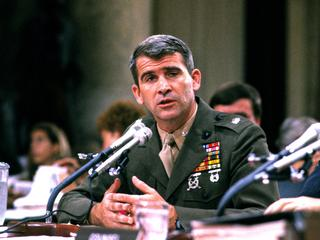 North Testifies Before the Iran-Contra Committee