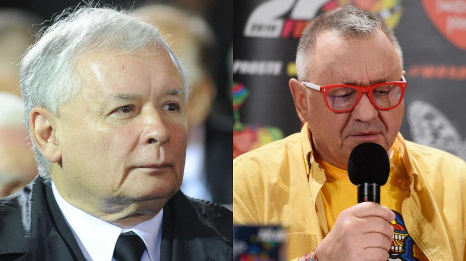 Jarosław Kaczyński i Jerzy Owsiak