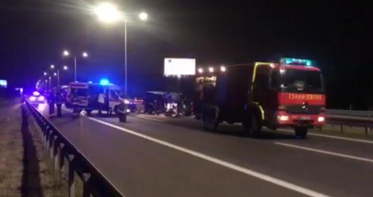 Udes Surčin, sudar kamiona i kombija, aerodrom Beograd