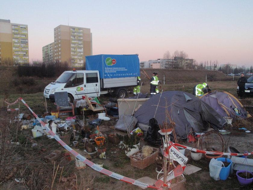 Bezdomna koczująca przy trasie PST wywieziona do Gdańska
