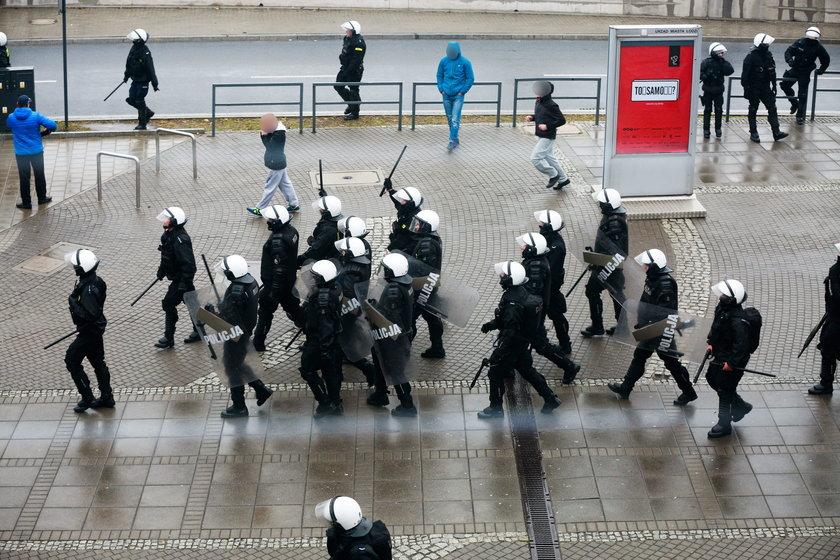Zamieszki w Łodzi. Policja zatrzymała 24 osoby