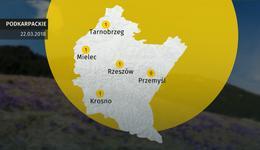 Prognoza pogody dla woj. podkarpackiego - 22.03